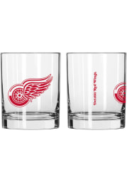Detroit Red Wings 14 OZ Gameday Rock Glass