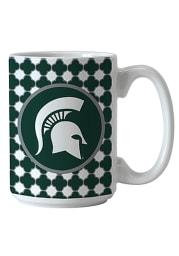 Michigan State Spartans Quatrefoil Ceramic Mug