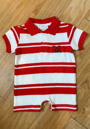 Miami Redhawks Baby Red Rugby Short Sleeve Polo One Piece