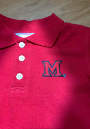 Miami Redhawks Toddler Red Golf Short Sleeve Polo Shirt