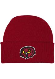 Temple Owls Crimson Team Color Newborn Knit Hat