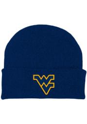 West Virginia Mountaineers Navy Blue Team Color Newborn Knit Hat