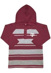 Texas A&M Aggies Toddler Maroon Rugby Stripe Long Sleeve Hooded Sweatshirt