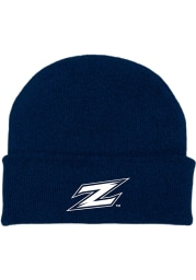 Akron Zips Blue Cuffed Newborn Knit Hat