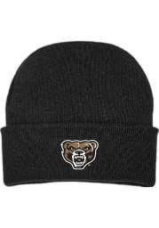 Oakland University Golden Grizzlies Black Cuffed Newborn Knit Hat