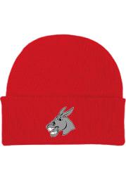 Central Missouri Mules Red Cuffed Newborn Knit Hat