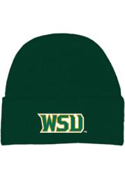 Wright State Raiders Green Cuffed Newborn Knit Hat