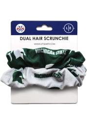Michigan State Spartans Dual Hair Twist Womens Hair Scrunchie