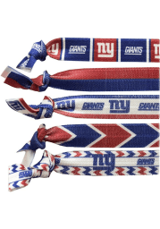 New York Giants Knotted Hair Tie Womens Hair Scrunchie
