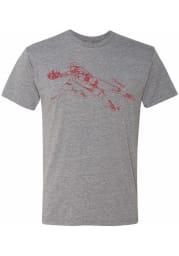 Joey Votto Cincinnati Reds Grey Sketch Short Sleeve Fashion Player T Shirt