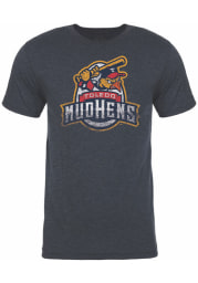 Toledo Mud Hens Navy Blue Vintage Short Sleeve Fashion T Shirt