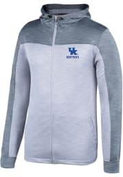 Kentucky Wildcats Mens Grey Rally Elect Long Sleeve Zip
