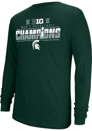 Top of the World Michigan State Spartans Green Big 10 Champions Locker Room Long Sleeve T Shirt