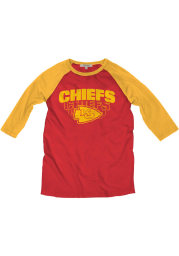 Junk Food Clothing Kansas City Chiefs Red All American Raglan Long Sleeve Fashion T Shirt