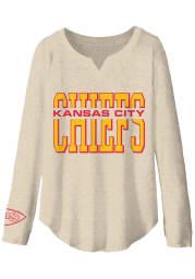 Junk Food Clothing Kansas City Chiefs Womens Oatmeal Sunday LS Tee