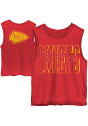 Junk Food Clothing Kansas City Chiefs Womens Red Timeout Tank Top