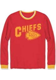 Junk Food Clothing Kansas City Chiefs Red Ringer Long Sleeve Fashion T Shirt