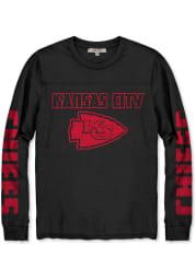 Junk Food Clothing Kansas City Chiefs Black Throwback Thermal Long Sleeve Fashion T Shirt