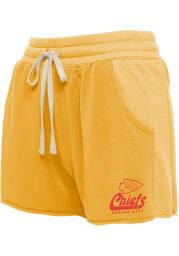 Junk Food Clothing Kansas City Chiefs Womens Gold Mix Shorts