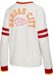 Junk Food Clothing Kansas City Chiefs Womens White Football Crew Sweatshirt