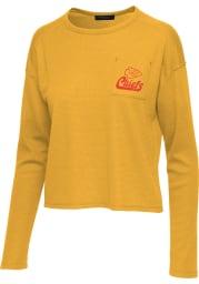 Junk Food Clothing Kansas City Chiefs Womens Gold Thermal LS Tee