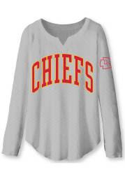 Junk Food Clothing Kansas City Chiefs Womens Grey Sunday LS Tee