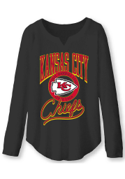 Junk Food Clothing Kansas City Chiefs Womens Black Sunday LS Tee