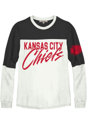 Junk Food Clothing Kansas City Chiefs Womens White Comeback LS Tee