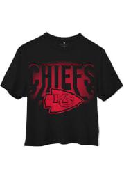 Junk Food Clothing Kansas City Chiefs Womens Black Light Short Sleeve T-Shirt
