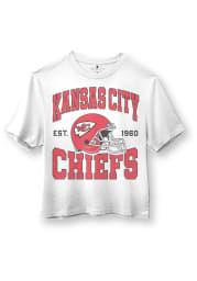 Junk Food Clothing Kansas City Chiefs Womens White Helmet Short Sleeve T-Shirt