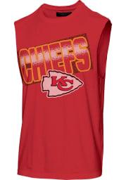 Junk Food Clothing Kansas City Chiefs Mens Red Muscle Short Sleeve Tank Top