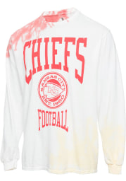 Junk Food Clothing Kansas City Chiefs White Tie Dye Long Sleeve Fashion T Shirt