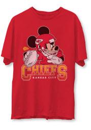 Junk Food Clothing Kansas City Chiefs Red Mickey Short Sleeve Fashion T Shirt