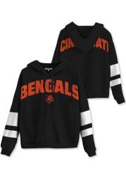 Junk Food Clothing Cincinnati Bengals Womens Black Sideline Hooded Sweatshirt