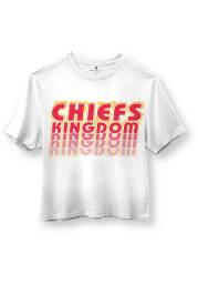Junk Food Clothing Kansas City Chiefs Womens White Repeated Short Sleeve T-Shirt