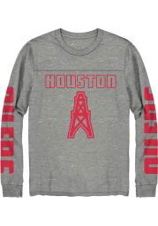 Junk Food Clothing Houston Oilers Grey Thermal Long Sleeve Fashion T Shirt