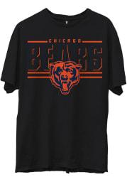 Junk Food Clothing Chicago Bears Black Team Slogan Short Sleeve Fashion T Shirt