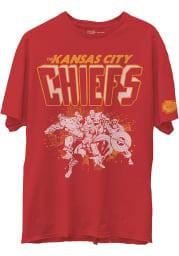 Junk Food Clothing Kansas City Chiefs Red Marvel Short Sleeve Fashion T Shirt