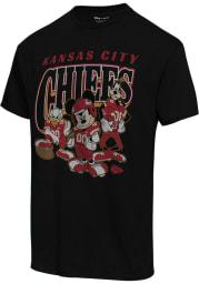 Junk Food Clothing Kansas City Chiefs Black DISNEY HUDDLE UP Short Sleeve Fashion T Shirt