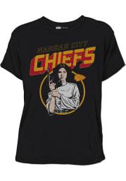 Junk Food Clothing Kansas City Chiefs Womens Black Princess Leia Short Sleeve T-Shirt