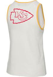 Junk Food Clothing Kansas City Chiefs Womens White Binding Tank Top