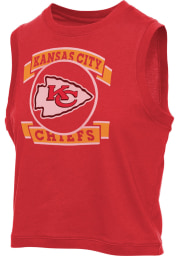 Junk Food Clothing Kansas City Chiefs Womens Red Muscle Tank Top