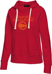 Junk Food Clothing Kansas City Chiefs Womens Red Raw Edge Hooded Sweatshirt