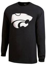K-State Wildcats Black Powercat Long Sleeve T Shirt