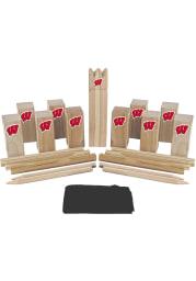 Wisconsin Badgers Kubb Chess Tailgate Game