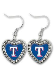 Texas Rangers Heart Womens Earrings