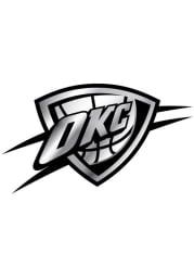 Oklahoma City Thunder Plastic Car Emblem - Silver