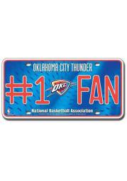 Oklahoma City Thunder Blue Fan Car Accessory License Plate