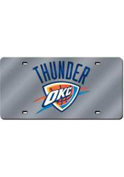 Oklahoma City Thunder Team Logo Silver Car Accessory License Plate