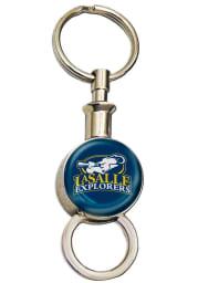 La Salle Explorers Round Valet Keychain